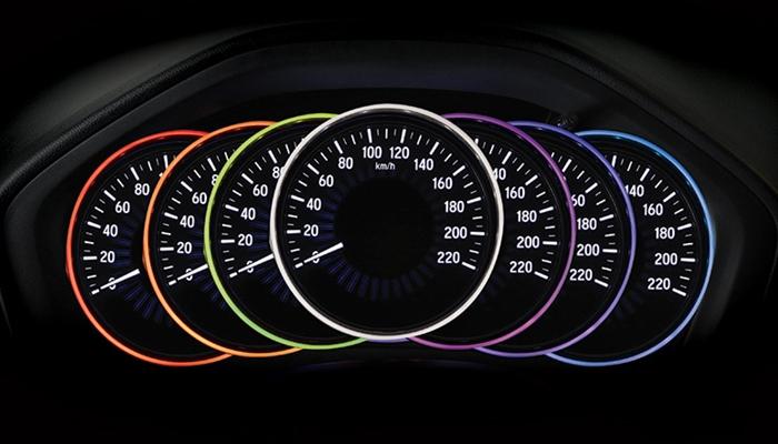 Bảng đồng hồ hiển thị 7 màu sắc