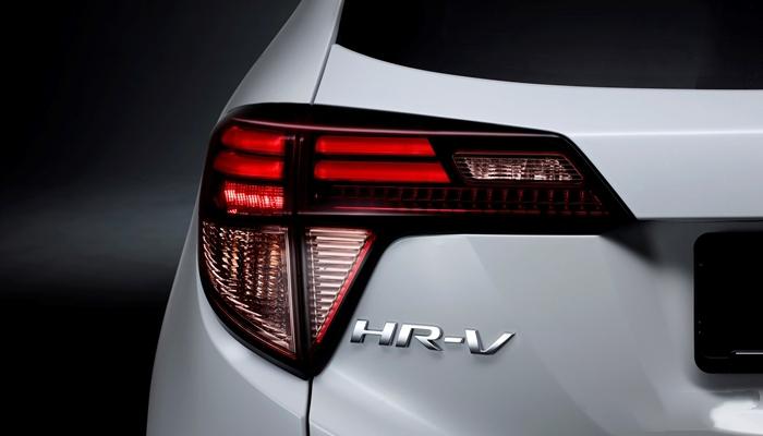Cụm đèn hậu HRV dạng LED thiết kế khá giống hình chữ L nằm ngang