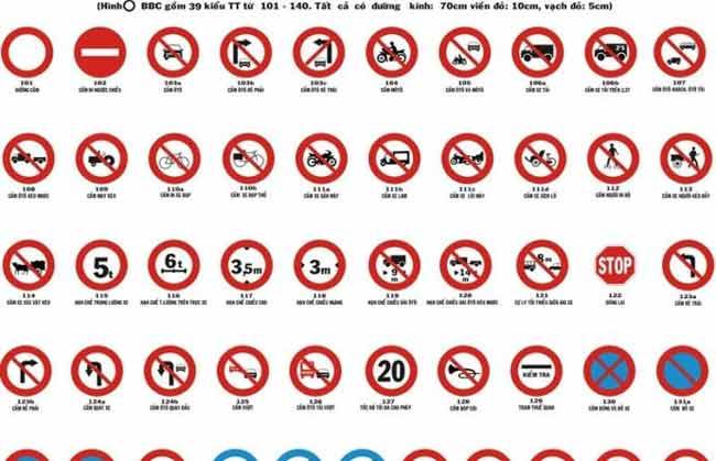 Nắm vững luật lệ, các biển báo giao thông