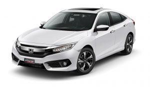 Honda Civic màu trắng tinh khiết