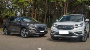 So sánh xe Honda CRV và Huyndai Tucson