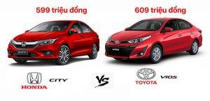 So sánh xe Honda city 2019 và Toyota Vios 2019