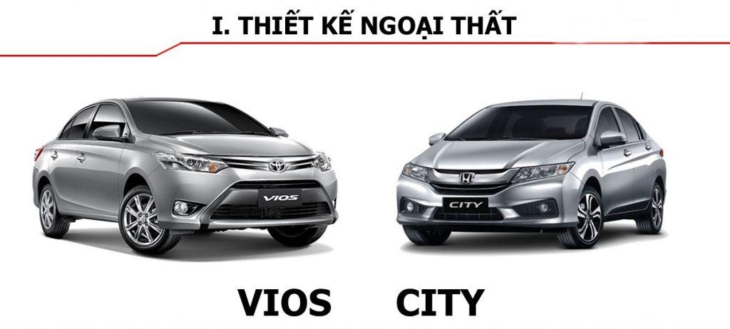 So sánh xe Honda city và toyota vios