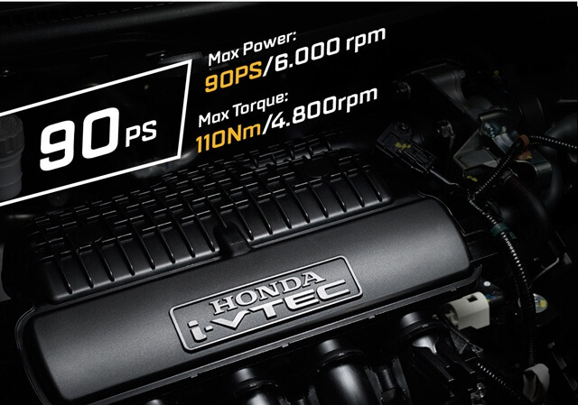 Động cơ xe Honda Brio là loại xăng 1.2 L
