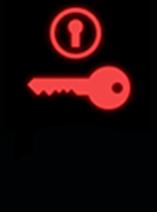Đèn báo bật công tắc khóa điện