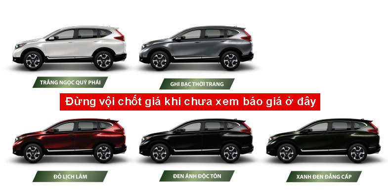 Xe honda CR V cho Việt Nam