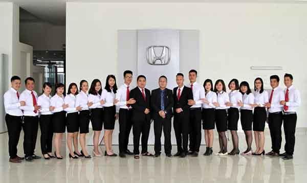 Đội ngũ nhân viên Honda Vĩnh Phúc
