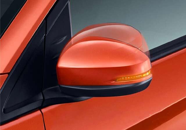 Gương chiếu hậu ngoài của xe Honda Brio có tích hợp đèn báo rẽ