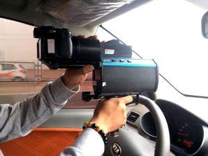 Máy bắn tốc độ được gắn lên xe tuần tra của CSGT