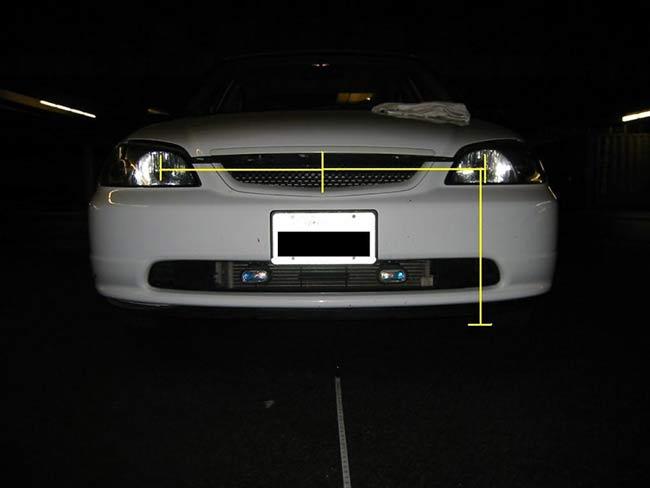 Đo khoảng cách đến tim đèn trên xe