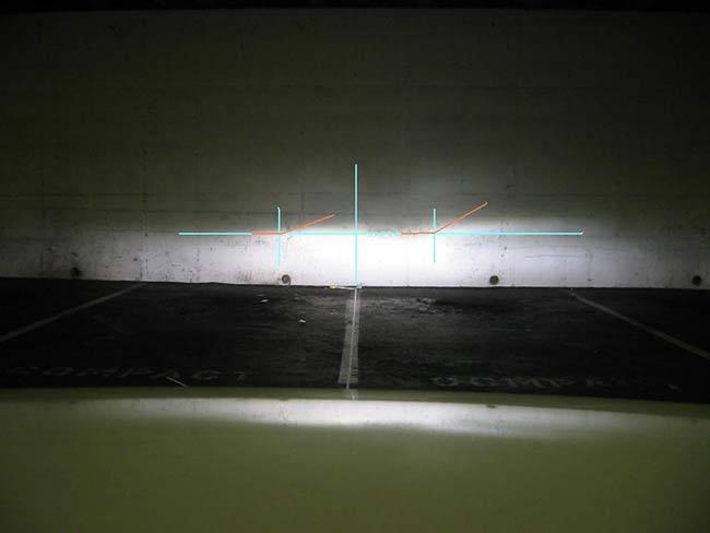 Kiểm tra lại lần cuối để xem đèn pha còn bị lệch hay không